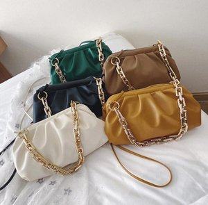 HBP Women Handbags Purse Women Shoulder Bags Thick Chain Double Shoulder Strap Wholesale Women New Clouds Bag