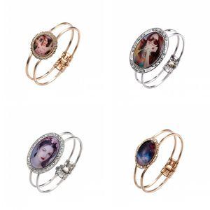 Sublimation Blank Metal Charm Chain Jewelry Women Thermal Transfer Printing Fashion Plated Gold Bracelet DIY 7 5mk J2