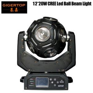 FREESHIPPING Gigertop 12x20W أدى نقل رئيس شعاع الضوء العالمي الكرة شعاع ضوء RGBW 4IN1 كري مع خطاف قناة 21