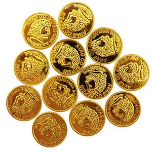 Enfeites de natal Coin Toy Best Selling pirata Gold Coin Board Game Acessórios Gold Coin Props plástico