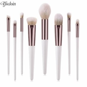 8Pcs Professional Makeup Brushes Tool Facial Foundation Powder Contour Concealer Blusher Blending Brushes Cosmetic Makeup