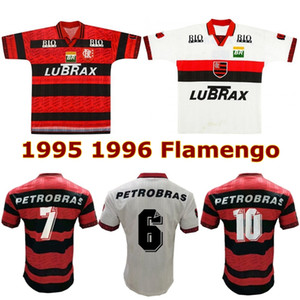 1995 1996 Flamengo 레트로 축구 유니폼 95 96 Flamengo Centeny amoroso Bebeto Romario Edmundo Gilberto Savio Fabinho 빈티지 축구 셔츠