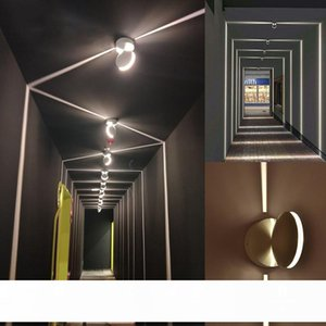 Aisle LED Window sill Door Frame lamp Wall Spot lights Hotel KTV Bar Corridor LED Wall Lamps 360 Degree line ray Window Lamps