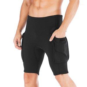 Portez des pantalons pour hommes Pantalons Shorts 3mm Néoprène Canoë-kayak Natation Diving Plongée en apnée Scuba Surf Canoë avec poche1