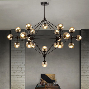 Bolha Chandelier Lustre Modo candelabro rústico Loft Vintage industrial Kitchen Shop Restaurant Art Decor Glass luminária
