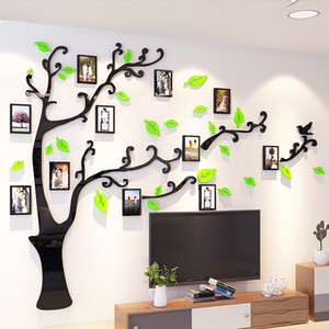 Hot Creative Tree Shape DIY Photo Wall House Stickers Quality 1ps Wall Sticker Large TV Sofa Background Acrylic Wall Stickers 1007