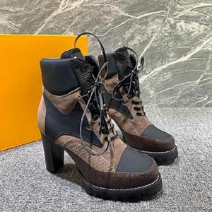Mujer del invierno botas del tobillo de los zapatos cómodos rastro de la estrella BOTIN para mujer de cuero Zapatos Tipo de femme manera de señora gota de los zapatos 1A86OF