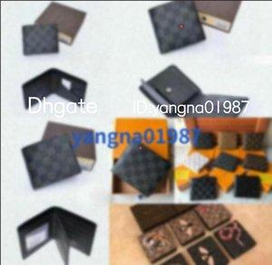 2020 novo saco de designer frete grátis Billfold de alta qualidade padrão xadrez mulheres wallet homens pures high-end carteira com caixa
