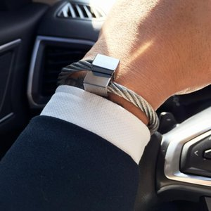 Mcllroy Edelstahlarmband Männer Armband Titan einstellbare Öffnungs Manschette Charm Schmuck pulseras hombre Luxus-Schmuck 2020