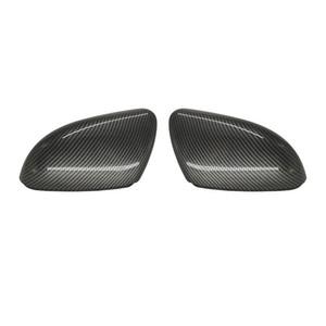 1 paio Copertine Alta laterale auto specchio di qualità per J-ETTA MK6, B7 PASSAT, CC, New BORA, B-EETLE, SCIROCCO, C-Trek ABS Carbon Look