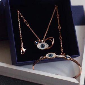 Designer jewelry luxury jewelry demon eye necklace. Bracelet, earrings, 925 silver natural diamond inlaid with box