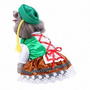 애완 동물 개 천으로 의상 재미 있은 애완 동물 드레스 마법의 선원 정장 크리스마스 유니폼 모자 할로윈 파티 멋진 드레스 Cosplay1 V06D #