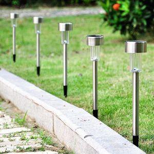 Prato Lampade modo dei 5 pc per esterni in acciaio inox colorata energia solare della luce della lampada da giardino per la decorazione domestica 12V 15000MCD-L
