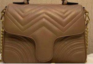 las mujeres Designerb cadena de oro del estilo del corazón de cuero clásico de las mujeres calientes sellnew bolsas bolsos de hombro bolsas de asas de los bolsos del mensajero