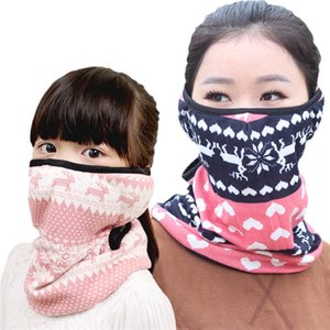 Winter Neck Warmer Mouth Cashmere Face Mask Cover Scarf kids adult Full Ears Protection for Ski Bicycle Motorcycle scarf LJJK2497 .