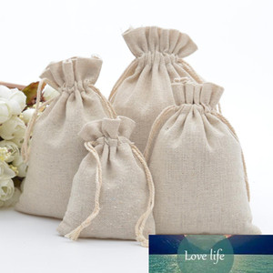 50pcs 100% Cotton Drawstring Bags Rustic Calico Gift Bags for Coffee Beans Jewelry Wedding Favors Xmas Sack Accept Customize