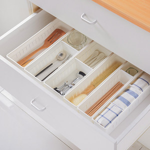Baffect Organizer Trays for Drawer Storage Kitchen Bathroom Closet Desk Box Drawer Organizer for Cutlery Cosmetics Socks Panties Y1113