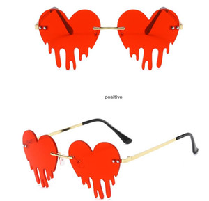 Love water droplets shape sunglasses fashion framless colorful eyewear party decoration gift