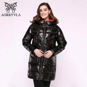 AORRYVLA LONG FEMMENT'S DOWN'S DOWN DOWN Puffer Jacket épais Veste à capuche Coton Parka Casual Femme Vêtements Vêtements Vêtements Plus Taille 201022