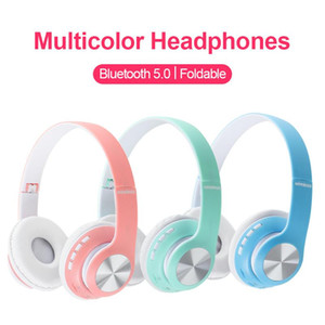 Wireless Headphones Bluetooth Headset Foldable Stereo Headphone Gaming Earphones With Microphone For PC Mobile phone Mp3