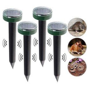 4pcs 두더지 쥐 ratellent 태양 초음파 repeller 스파이크 정원 해충 방지 억제 야외 초음파 해충 repeller 마우스 트랩 장치 Y200106