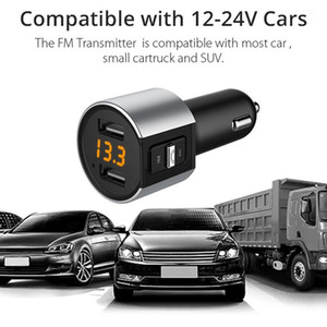 New Bluetooth FM Transmitter Wireless In Car MP3 Player V4.2 Bluetooth Car Kit FM Radio Transmitter Modulator Dual USB Charger Port