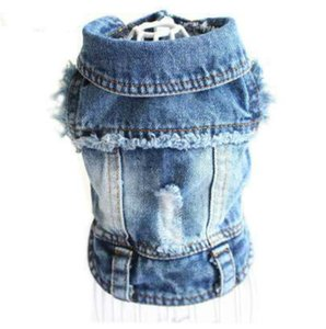 Clothes Designer Dog Pet Clothes for Small Dogs Cool Jeans Jacket for French Bulldog Denim Coat Dog Outfit for Chihuahua