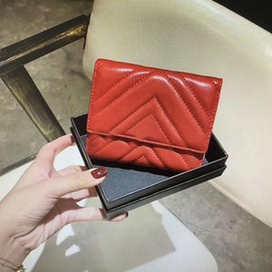 474802 Marmont court portefeuille de haute qualité Mode féminine Coinpurse Pochette matelassée cuir véritable femme Portefeuilles carte principale crédit Porte-Clutches02