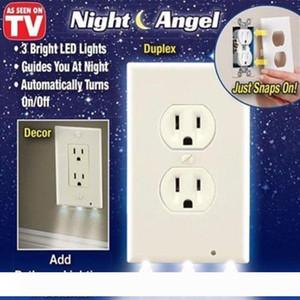 2020 Gece Melek Yüksek Kaliteli Dayanıklı Uygun Çıkış Kapak Duvar Plaka LED Gece Işıkları Ile Ortam Işık Sensörü