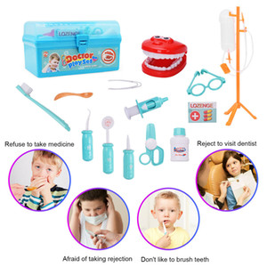 Dentist Doctor Medical Set Toy Carry Box Kids Role Play Pretend 15PCS Kit Case