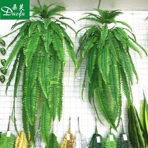 محاكاة محاكاة محاكاة الجدار الكبير العشب الفارسية الأوراق الفارسية الحديد مزيلات فئة النباتات الزهور الاصطناعية ورقة الديكور 4