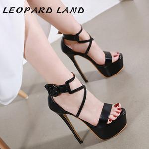 sandals for women and ladies 2020 New Design Thin Heeled Waterproof Platform Sexy Belt Buckle Sandals CWF-my9966-168 0928