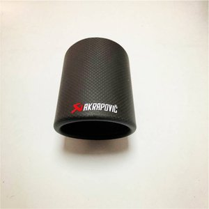 1 Piece For Akrapovic Car Muffler Cover Fit For All Cars Glossy Matte OUTLET 76 89 101 114MM 125mm Length Exhaust Tips Cover