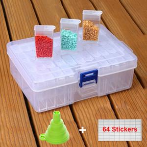 42 Grids Beads Container Rhinestone Storage Box Diamond Painting Accessories Tools Wholesale Price Q1107