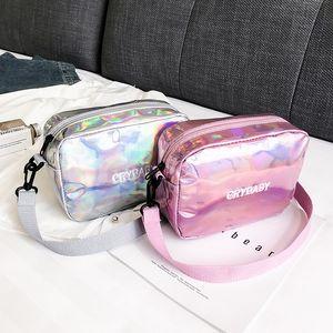 2020 Holographic Backpack Women Crybaby Backpack Set School Bag Shoulder Composite Bag Clutch Messenger Crossbody Schoolbag C0407