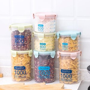 Food Preservation Sealed Container Storage Container Cover Kitchen Plastic Transparent Multi-Frain Snack Storage Box Sea Shipping YL1411