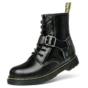 Europe and the United States fashion men's and women's leather luxury tooling Martin boots lovers in breathable buckles knight boots1