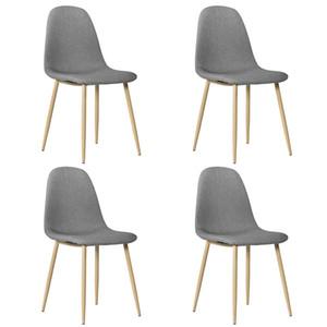 Stock en US UK 4PCS Minimalisme Simple Chaise de salle à manger Cuisine Chaises de bureau Bois Petits Chaises (Pack de 4) Dropshipping