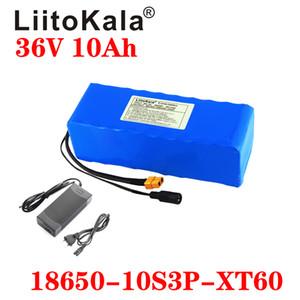 LiitoKala 36V 10Ah Batterie vélo électrique intégré 20A BMS batterie au lithium 36 V avec 2A Chargeur E-bike fiche Batterie XT60
