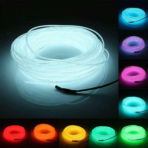 1m 2m 5m 10m Flexible Neon Glow Light El Wire Rope Tube Led Strip Neon Lights étanche pour des chaussures de danse Vêtements Car Swy bbyigl yh_pack