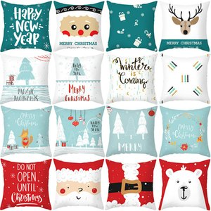 NewSanta Pillow Ornaments Case Xmas Pendant Sofa Merry Christmas Decor For Home 2021 Happy New Year Noel Goods