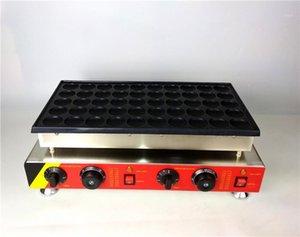Sokak Aperatifleri Hollanda Poffertjes Izgara Elektrikli Mini Gözleme Makinesi 50 Delik Yapışmaz Pişirme Yüzey 220 V 110V1