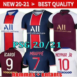 MBAPPE NEYMAR JR ICARDI soccer jersey 20 21 Maillots de football shirt 2020 2021 KEAN VERRATTI men kids kit uniforms enfants maillot foot