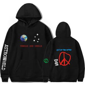 Astroworld Emociones y escalofríos Sudaderas con capucha de gran tamaño Travis Scotts Unisex Encuentro Sudadera SweatersHirts Hombre / Mujer Streetwear Ropa X1022