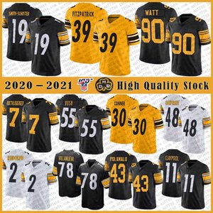 7 Ben Roethlisberger PittsburghSteeler Football Jersey Steelers90 T. J. Watt 19 JuJu Smith-Schuster Minkah Fitzpatrick Bud Dupree