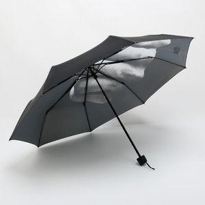 Dedo medio paraguas de la lluvia a prueba de viento encima el su paraguas plegable Sombrilla creativas Moda Impacto Negro Paraguas plegable Paraguas ZZA1614