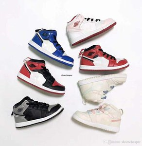 Kids Birthday Gift 1s Basketball Shoes Children Boy Girl 1 Bred Black Red White Sneakers Boys girls Summer Outdoor Sports Shoes