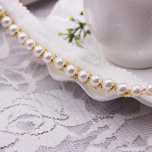 10yards Accesorios de DIY Cordón de perlas Cinta de Cinta Borlas de algodón Tassels Para recortar Fringes Para Costura Hoja de Cama Ropa Cortina Decoración H JLLLPLW