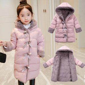 OLEKID 2020 осень Зимняя куртка для девочек Plus Velvet Теплый Длинные Девушка Parka 3-11 лет девочка-подросток пальто младенца Верхняя одежда детский зимний комбинезон