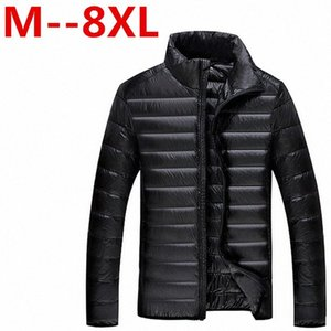 9xl 8xl 7xl New Arrival Winter Mens Down Jacket 90% White Coat Solid Thin Warm Waterproof Plus Size Shipping Free Delivery c2zI#